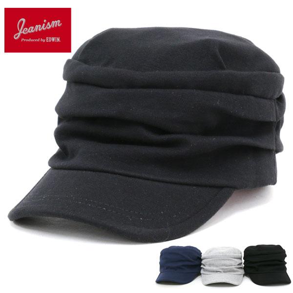 JEANISM produced by EDWIN ワークキャップ メンズ 夏 綿100% グレー/ブラック/ネイビー