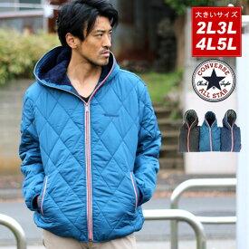 CONVERSE アウター 大きいサイズ メンズ 冬 中綿 パーカー ブラック/グリーン/ネイビー 2L/3L/4L/5L