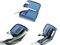 JEANISMEDWIN二つ折り財布メンズ冬ラウンドファスナーグレー/ブラック/レッド/ネイビー【レディース男女兼用さいふウォレット軽いおしゃれプレゼントマルカワ】