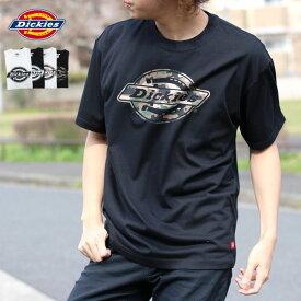 Dickies Tシャツ メンズ 夏 ロゴ プリント 半袖 ホワイト/ブラック M/L/XL