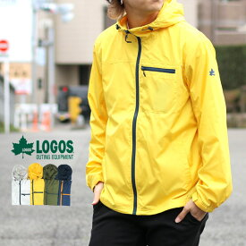 LOGOS ウインドブレーカー メンズ 春 裏メッシュ 撥水加工 グレー/イエロー/グリーン/ネイビー M/L/LL
