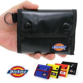 Dickies 三つ折り財布 メンズ 冬 PVC ブラック/レッド/イエロー/ネイビー