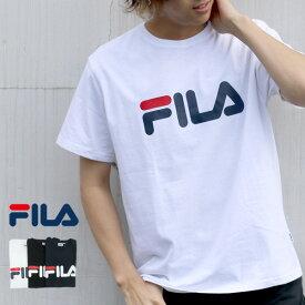 フィラ Tシャツ メンズ 夏 ロゴ プリント 半袖 ホワイト/ブラック/ネイビー M/L/LL