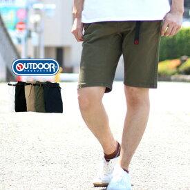 OUTDOOR PRODUCTS ハーフパンツ メンズ 夏 無地 ストレッチ ホワイト/ブラック/ベージュ/オリーブ/ネイビー M/L/XL
