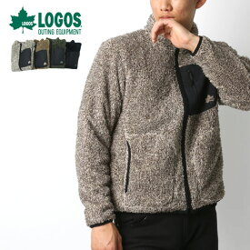 LOGOS フリースジャケット メンズ 秋冬 ボアフリース グレー/ベージュ/グリーン/ネイビー M/L/LL