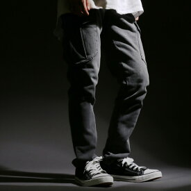 全品送料無料 作業服 メンズ 秋 カーゴパンツ デニム ストレッチ ミリタリー パンツ ブルー M/L/XL/3L/4L