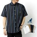 全品送料無料 カンゴール シャツ メンズ 夏 ワンポイント ロゴ 刺繍 半袖 ホワイト/ベージュ/ネイビー M/L/LL【マルカ…