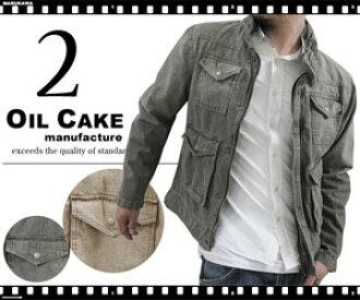 """樂天排名獎油蛋糕和蔗渣硫化處理工裝褲""""M""""型夾克"""