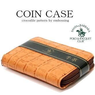 聖塔芭芭拉馬球和網球俱樂部便士放男裝皮革錢包 [放丸 / 錢包、 硬幣、 硬幣 / 皮革 / 皮革 / 皮革、 皮革 / 鱷魚 /POLO 袖珍 / 郵編 / 工程案例