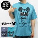大きいサイズ メンズ Tシャツ 半袖 ミッキー Disney【キングサイズ 2L 3L 4L 5L マルカワ ディズニー ドライ 吸汗速乾 プリント】