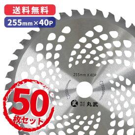 【50枚セット】公共用草刈 255mm×40P チップソー草刈刃 チップソー マルケン