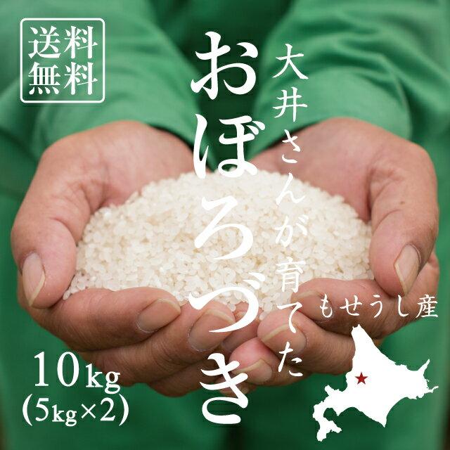 【北海道の米屋しか手に入らない】大井さんが育てた「おぼろづき」 10kg(5kg×2袋) 29年産 北海道もせうし産 <玄米・白米・分づき米> 【送料無料】※沖縄・離島は除く