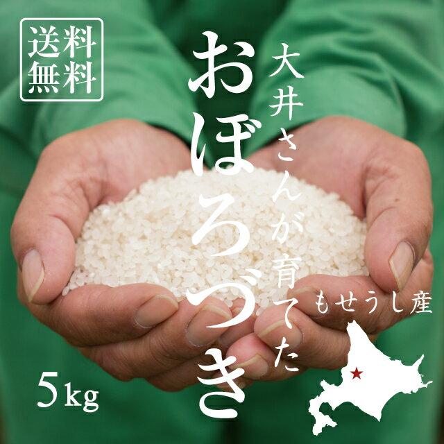 【北海道の米屋しか手に入らない】大井さんが育てた「おぼろづき」 5kg 29年産 北海道もせうし産 <玄米・白米・分づき米> 【送料無料】※沖縄・離島は除く
