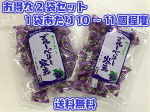 【送料無料 メール便】2袋セット ブルーベリー寒天 130g×2袋セット ゼリー 便利な個包装 オブラート包で食べやすい 止まらない美味しさ 国内製造 在宅 おやつ
