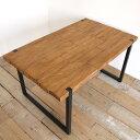 d-Bodhi(ディーボディ)セレベス ダイニングテーブル 古材 アイアン 2本脚 [ インダストリアルデザイン ヴィンテージ…