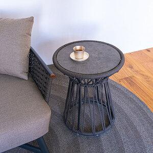Tamburo サイドテーブル HI 丸テーブル 軽量 おしゃれ テーブル 屋外 アウトドア テラス バルコニー ガーデン家具 庭 ベランダ ガーデンファニチャー 円形テーブル モダン リゾート 【SENSO d VITA