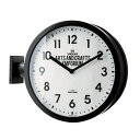 両面時計 ロベストン 壁掛け時計 掛け時計 おしゃれ 北欧 クール モノトーン 掛時計 置時計 両面に文字盤のある特徴的な壁掛け時計【送料無料】【あす楽】【2/末メーカー入荷予定(6)】