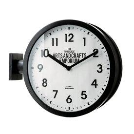 壁掛け時計 Robeston(ロベストン) 掛け時計 おしゃれ 北欧 クール モノトーン 掛時計 置時計 インテリア ダブルフェイス ウォールクロック 両面に文字盤のある特徴的な壁掛け時計【あす楽】