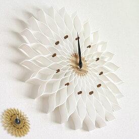 掛け時計 おしゃれ 壁掛け時計 Leffard(ルファール) 北欧 かわいい 木製 大きい 掛時計 大輪の花のようなフォルム デザイン プレゼント 時計 ウォールクロック cl-9903-128【送料無料】【在庫あり】【あす楽】