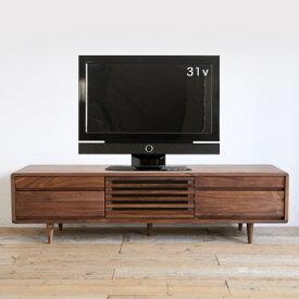 テレビ台 テレビボード 北欧 150ハイタイプ 木製 無垢 ウォールナット おしゃれ ローボード ]【送料無料】【受注商品・問い合わせください】