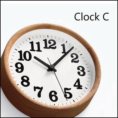 レムノス 掛け時計 Clock C(クロックC)ナチュラル ブラック【送料無料】