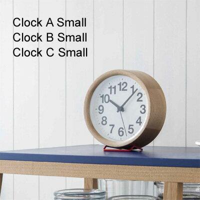 レムノス 掛け時計 置き時計 Clock A/B/C Small(クロックA/B/C)※掛け・置き両用タイプナチュラル ブラック【送料無料】