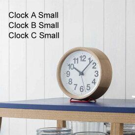 レムノス 掛け時計 置き時計 Clock A/B/C Small(クロックA/B/C)※掛け・置き両用タイプナチュラル ブラック【送料無料】【●】