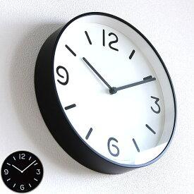 レムノス 壁掛け時計 掛け時計 MONOクロック タイプA シンプル モダン おしゃれ モノトーン ブラック ホワイト 【送料無料】【楽ギフ_包装】【あす楽】LC10-20-A-103