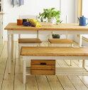 mam(マム) フィンネル ダイニングテーブル 長方形 幅140cm 木製 白 【送料無料】【円形テーブル廃番】
