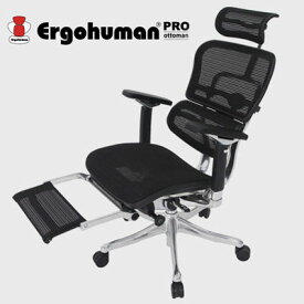 Ergohuman(エルゴヒューマン) EHP-LPL(オットマン付き) [ オフィスチェア デスクチェア 事務椅子 事務用椅子 パソコンチェア オフィスチェアー ]【全色在庫なし】【●】