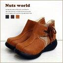 【送料無料】【72307】ショートブーツ サイド コンビブーツ【オリジナル正規品】【Nuts world】レディース 靴 レディス ミドルブーツ …