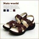 【送料無料】サンダル クロスベルトBBサンダル レディース 靴 【オリジナル正規品】【Nuts world】 レディス 夏 夏物 ラクチン感 お値…