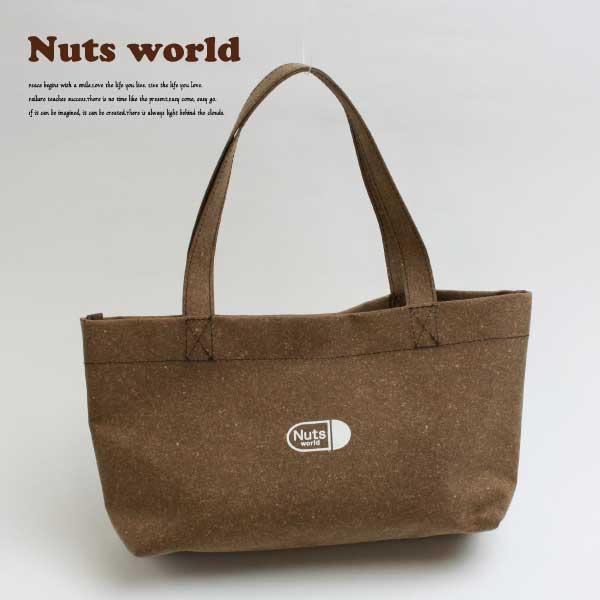 【送料無料】【72002】リサイクルレザートートバッグ(小) Nuts world ナッツワールド 鞄 トートバッグ エコ素材 イタリア製リサイクルレザー レザーボード 日本製 リサイクル レザー ユニセックス メンズ