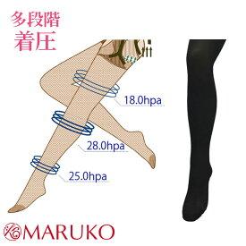 シンメトリー2016(限定品)【日本製】ヒップアップ&着圧 履くだけで脚すっきり 着圧パンスト レッグメイキング レディース 着圧ストッキング 28hPa MARUKO マルコ ブラック S/M/L 下半身 ヒップ 太もも 脚 むくみ