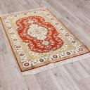 ペルシャ絨毯 & ギャベ (ギャッベ) キリム series じゅうたん 手織り 高級 玄関マット ラグ シルク 緞通 室内用 送料無料 #007 約 76×…