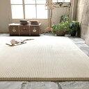 ラグ 洗える ストライプ ラグマット カーペット防音 洗えるウレタン+高反発ウレタン グレー北欧 モダン 絨毯 床暖房 ホットカーペット…