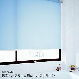ロールスクリーン シリーズ浴室 バスルーム 用 ロールスクリーン幅51cm〜80cm×丈161cm〜200cm【オーダーメイド商品】【メーカー直送品】【代引不可】