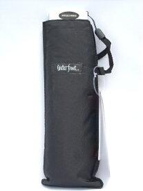 メール便で送料無料!薄型軽量折り畳み傘 ポケフラット 無地【黒】