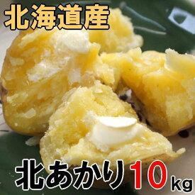 送料無料 越冬じゃがいも 北あかり 10kg 北海道産 ジャガイモ 特別栽培品