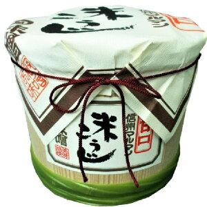 【ギフト】【信州味噌】老舗味噌屋の木樽に入った糀みそ4kg