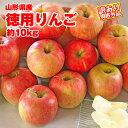 【通常価格の100円OFF】【ポイント2倍】【送料無料】【訳有り】山形産徳用りんご 約10kg サイズ・品種おまかせ 規…