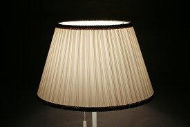 テーブルスタンド用 ランプシェード交換用 キャッチ式 ランダムプリーツ ベージュ 直径26cm 照明 シェードのみ