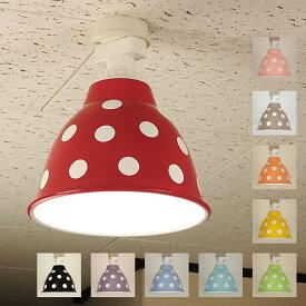 1灯 天井照明 直付タイプ スチール製 ポワ・ドゥ・クルール 電球別売 送料無料 LED電球対応