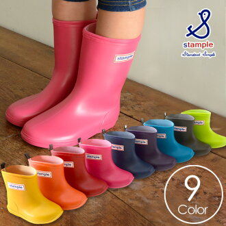 stample rain boots [13.0cm - 19.0cm] 75005-BOT kids baby Jr. boots pullover boots Stan pull entering a kindergarten preparations 8000097