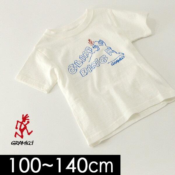 グラミチ KIDS CLIMBING TEE GKT-18S207-14M キッズ ベビー トップス 半袖 プリント Tシャツ 子供服 GRAMICCI 4018895