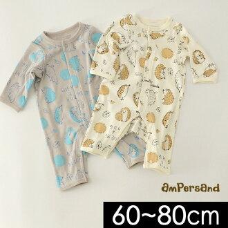ampasando L432028-80M男孩覆盖物全部婴儿顶端娃娃服朗路径印刷动物印刷前差别长袖子婴儿分娩祝贺礼物礼物童装ampersand 6003829