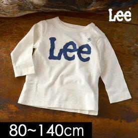 【メール便可】リー 9184253-14M ロゴ長袖Tシャツ キッズ ベビー トップス シンプル ロゴ カジュアル ロンT 子供服 Lee 4019171