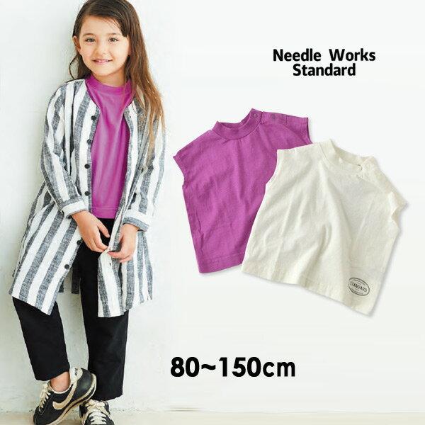【メール便可】ニードルワークススタンダード 319035-14M French Sleeve T-shirt キッズ ベビー トップス Tシャツ フレンチスリーブ 無地 シンプル 子供服 Needle Works Standard 4020393