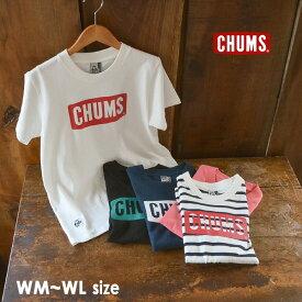 【メール便可】チャムス CH11-1324-WL(M) CHUMS Logo T-Shirt レディース トップス 半袖 プリント ロゴ アウトドア 無地 ロゴT ブランドロゴ CHUMS 2002417