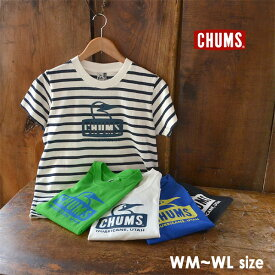 【メール便可】チャムス CH11-1325-WL(M) Booby Face T-Shirt レディース トップス 半袖 ブービーフェイス ロゴ Tシャツ 半袖 アウトドア CHUMS 2002418